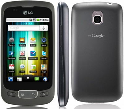 Мобильный телефон LG Optimus One P500 Black
