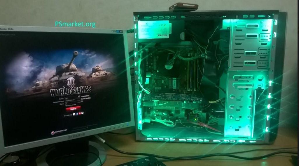 4-x Ядерный компьютер с подсветкой / 4гб / 250гб/ 420W
