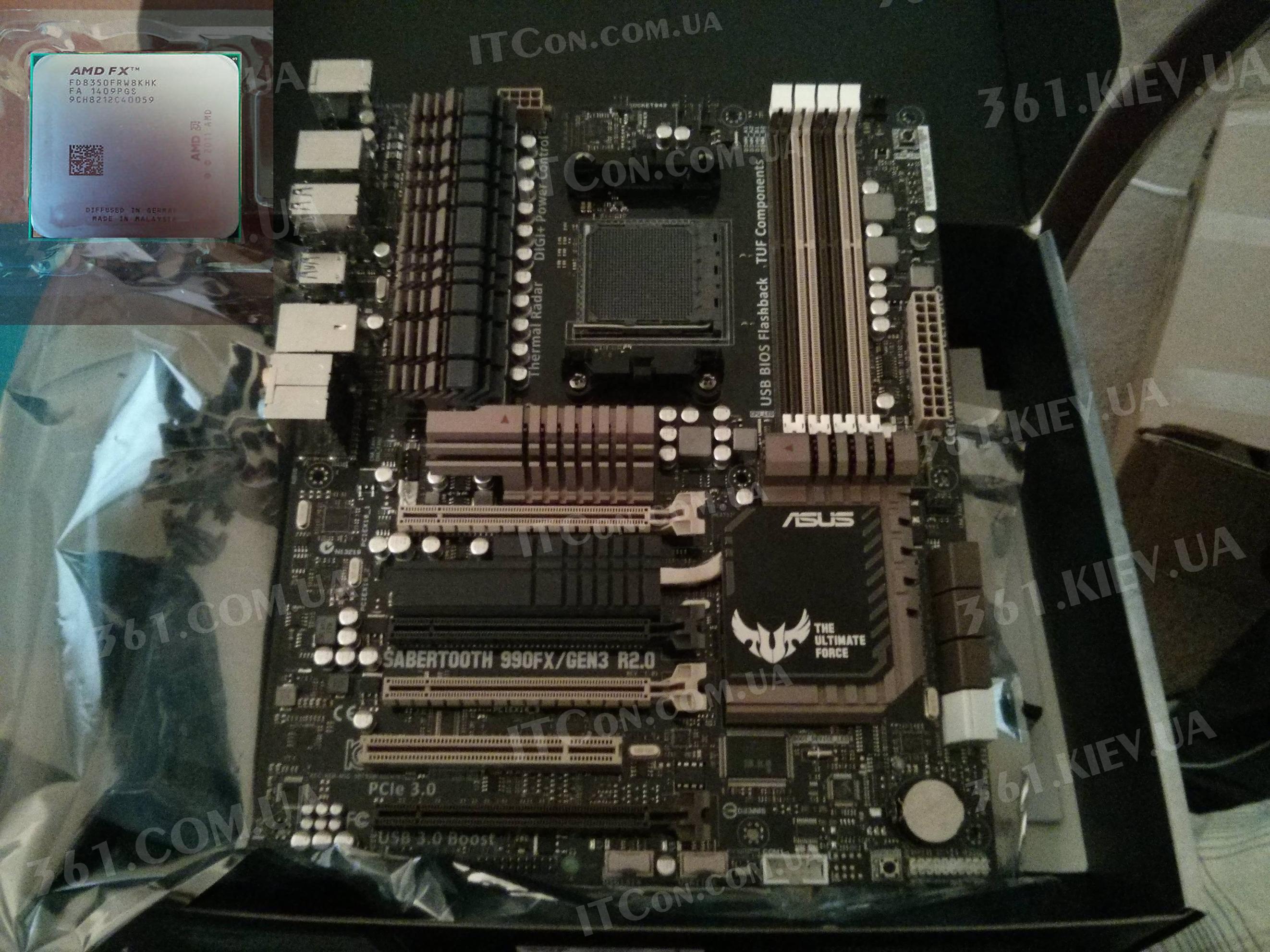 самый сильный комплект Sabertooth 990FX R2.0 & AMD FX-8350 4GHz/8MB