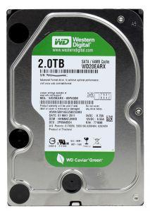 Жесткий диск 3.5 SATA III 2TB 5400rpm 64МB Western Digital Caviar Green WD20EARX