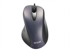 Мышь Delux DLM-320BP PS/2 Black , 800dpi, Optical Engine, Scroll Wheel