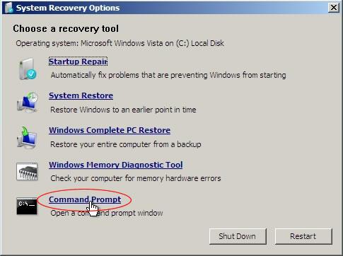 восстановить mbr в Windows 7